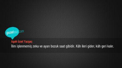 Photo of Agah İzzet Yazgaç Sözleri