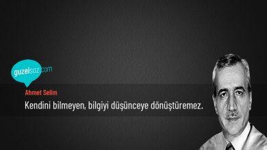 Photo of Ahmet Selim Sözleri