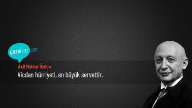 Photo of Akil Muhtar Özden Sözleri