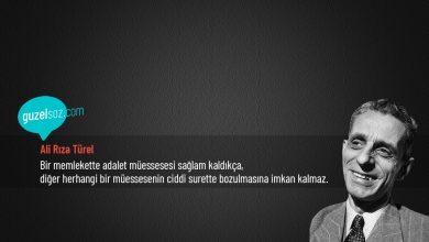 Photo of Ali Rıza Türel Sözleri