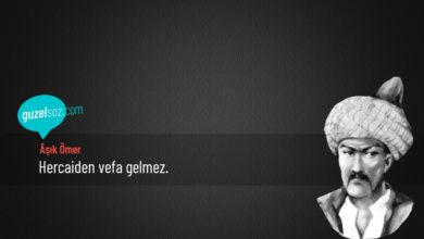 Photo of Âşık Ömer Sözleri