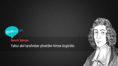 Photo of Baruch Spinoza Sözleri