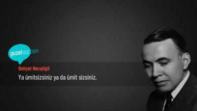 Photo of Behçet Necatigil Sözleri