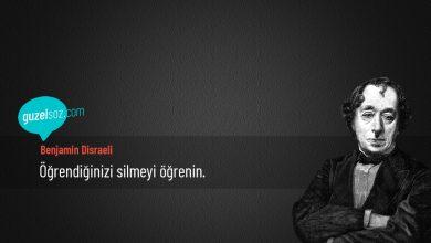Photo of Benjamin Disraeli Sözleri