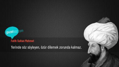 Photo of Fatih Sultan Mehmet Sözleri