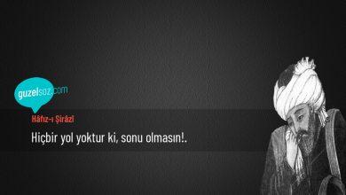 Photo of Hâfız-ı Şirâzî Sözleri