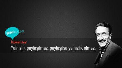 Photo of Özdemir Asaf Sözleri