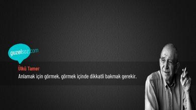 Photo of Ülkü Tamer Sözleri